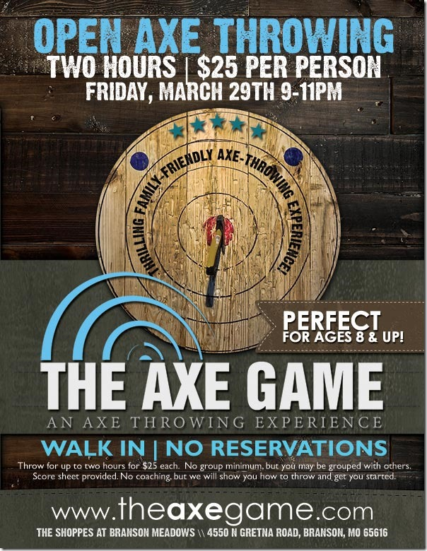 The Axe Game Free Throwing Ad 8p5x11
