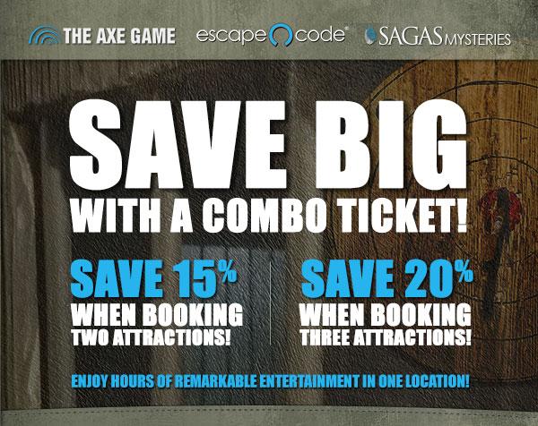 Escape Code, Sagas Mysteries & The Axe Game Combo Ticket